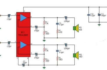 10w x 10w stereo amplifier circuit diagram using TDA2009