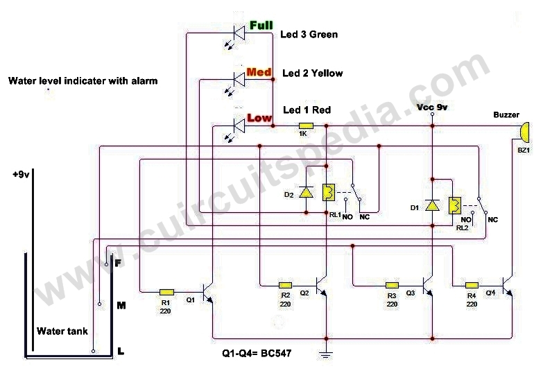 Water Level Indicator With Alaram Project|Water Tank Controller Circuit Diagram|best Project For Beginner
