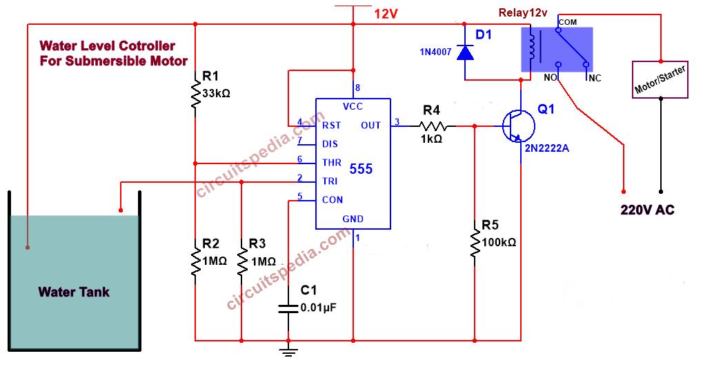 water pump controller circuit diagram