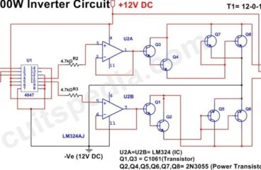 Low Cost 500w Inverter Circuit Using 2N3055