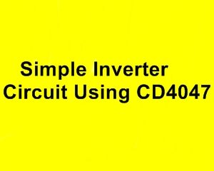 Simple Inverter Circuit Diagram