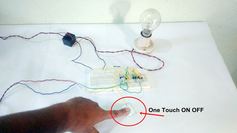 Touch ON OFF Switch With Single Touch