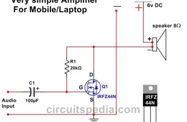 Simple Powerful Audio Amplifier using Single Mosfet