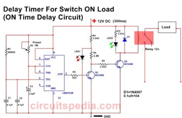 Switch ON Delay Timer circuit