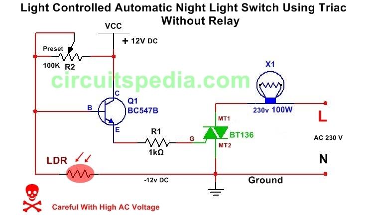 Light Activated /Dark Activated Switch circuit diagram ...