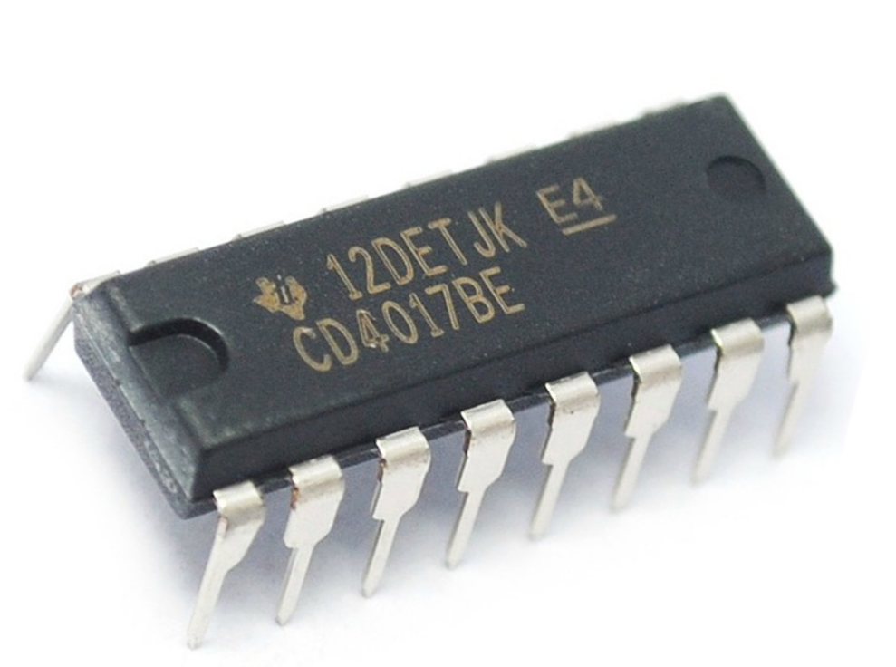 Decade Counter IC 4017 Working | CD4017 Counter | IC 4017 ...
