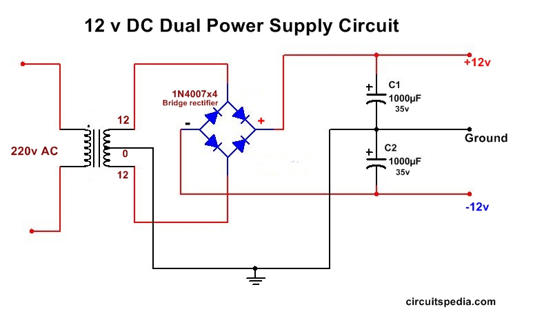 Dual Supply circuit diagram
