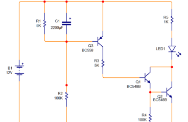 Delay ON Timer circuit using transistor