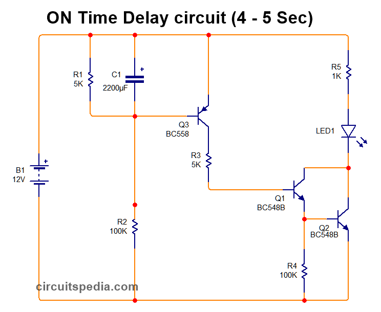 on time delay timer circuit