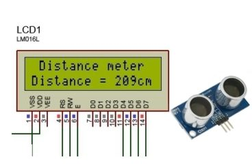 Distance Measure Using Ultrasonic Sensor