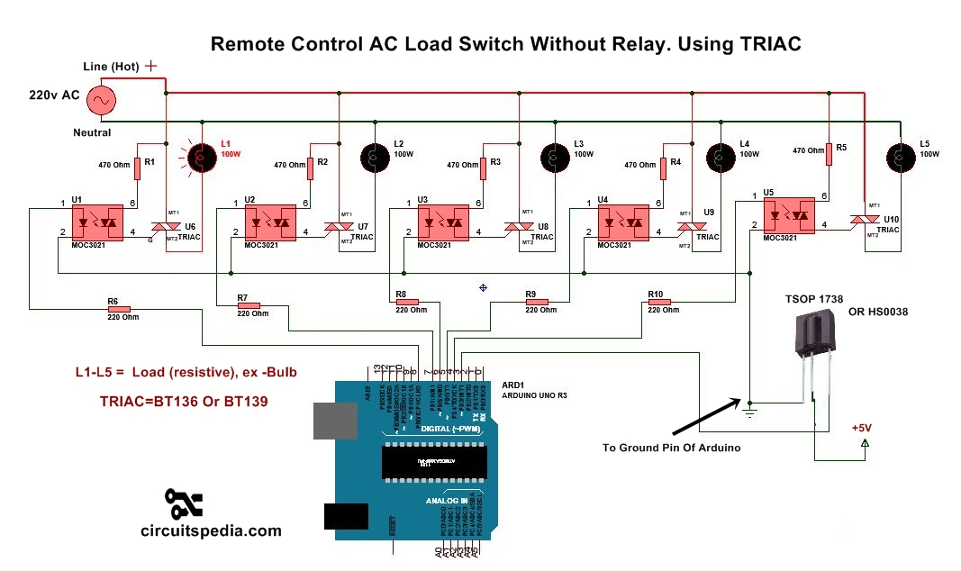 remote control switch for ac appliance