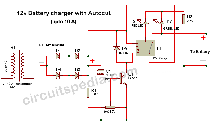 autocut off 12v battery overcharge protection