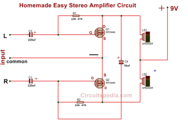 3 simple audio amplifier circuit diagram