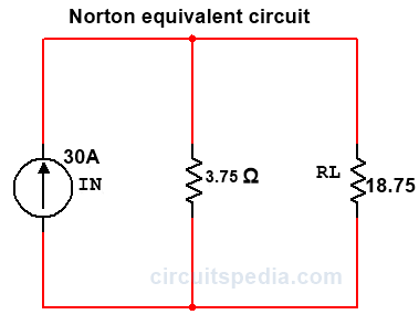 norton theorem equivalent circuit
