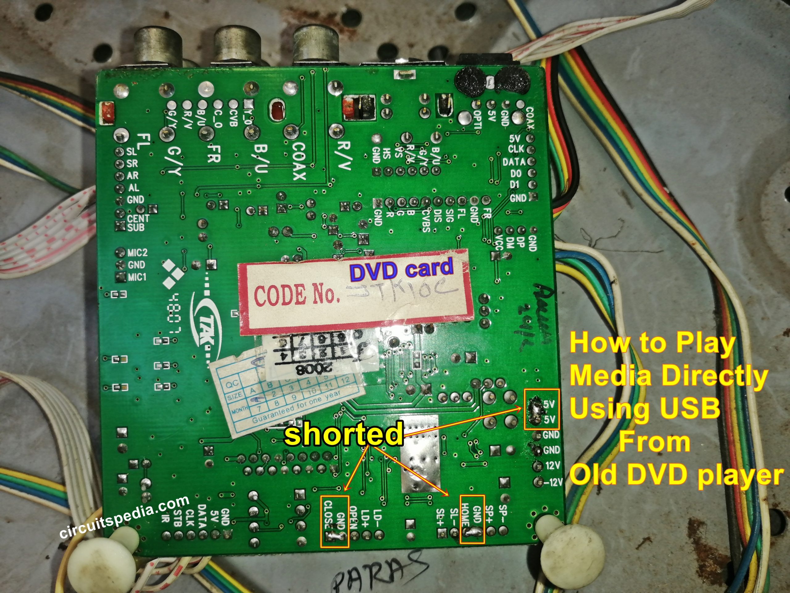 convert old dvd player to usb