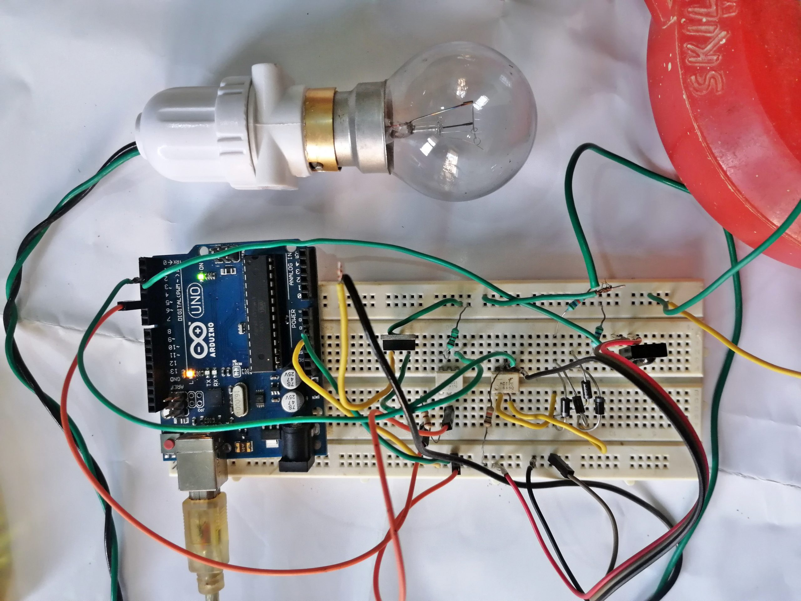 remote control ac dimmer arduino circuit