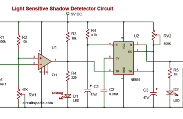 Darkness detector Shadow alarm circuit