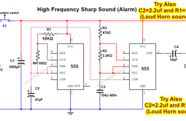 Siren Sound, Bird Sound, Tone generator using 555 timer