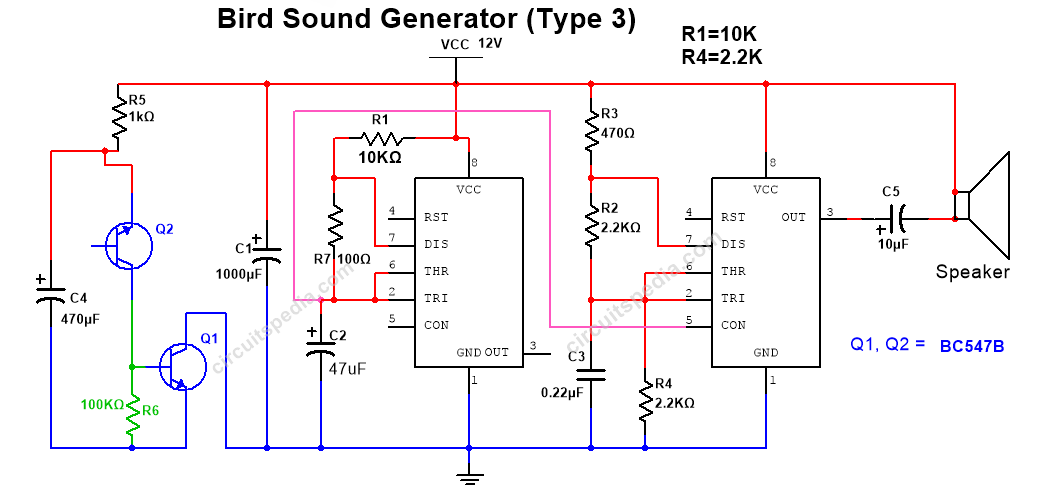 tone generator circuit diagram
