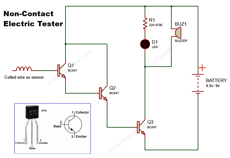 non-contact electric tester circuit