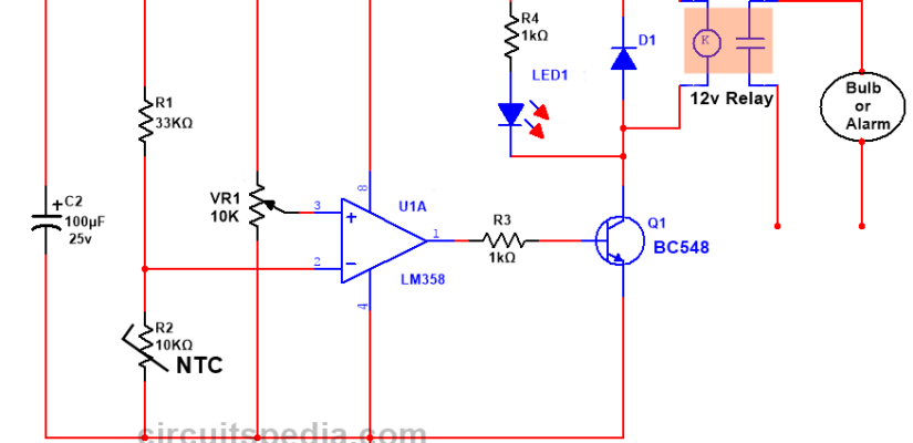 over heat sensor circuit diagram