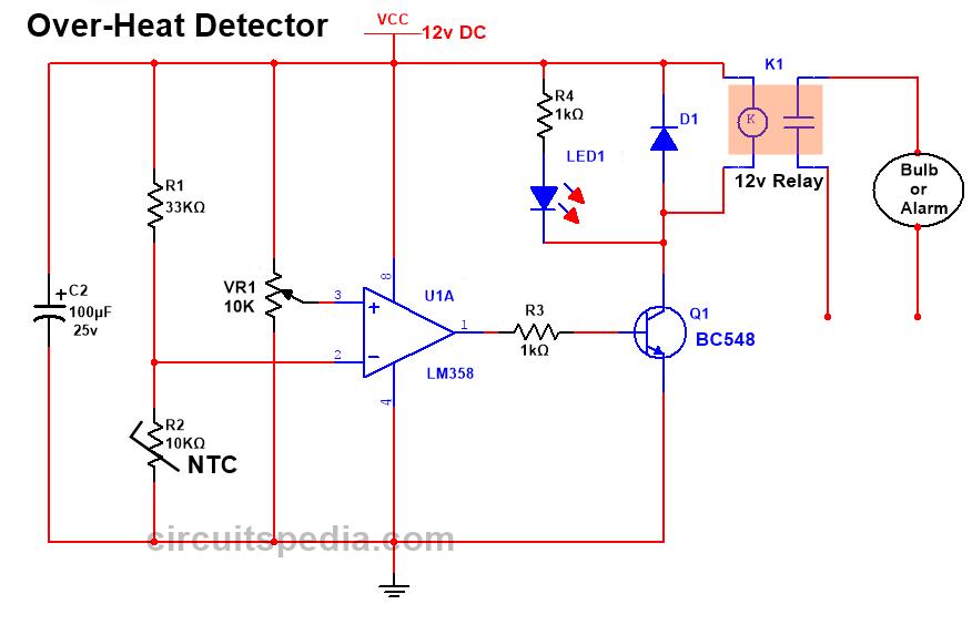 over heat sensor circuit diagram