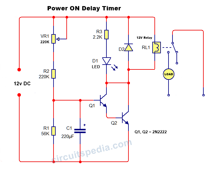 on delay timer circuit