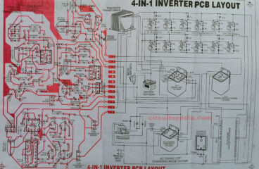 Inverter with charger circuit diagram (4 in 1)