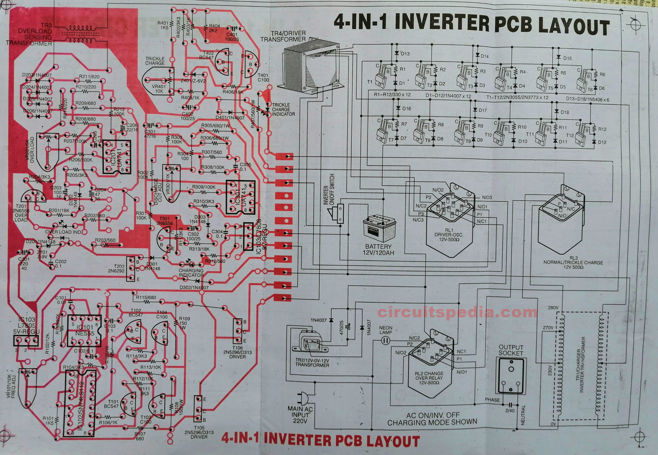 inverter circuit diagram pcb layout