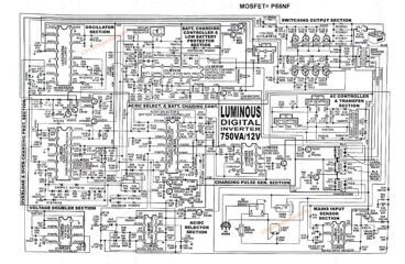 Luminous digital inverter circuit diagram