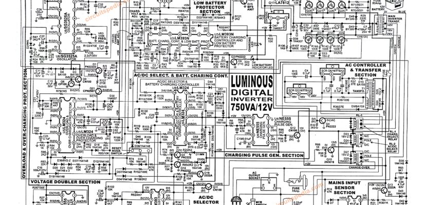 luminous digital inverter circuit