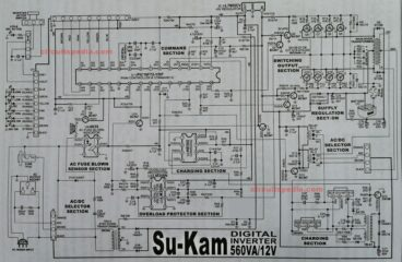 Su-Kam digital inverter circuit diagram