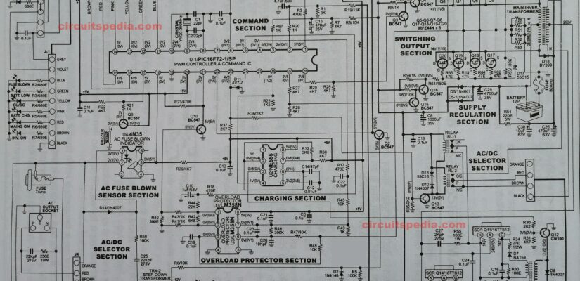 sukam inverter circuit diagram