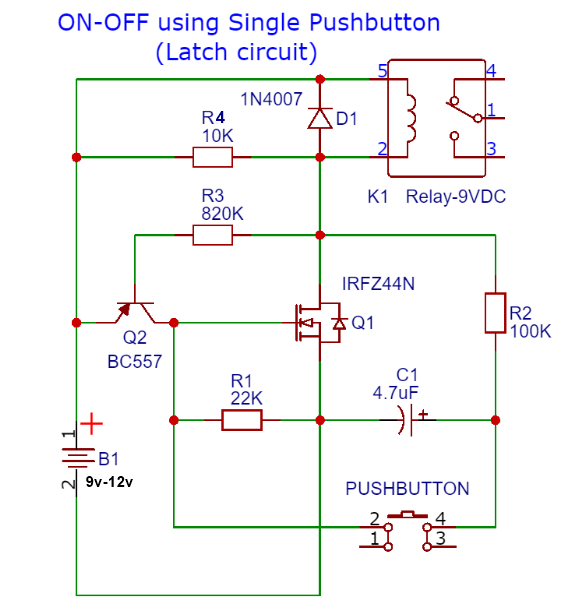 push button on off circuit