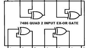 7486 2 INPUT EXOR GATE